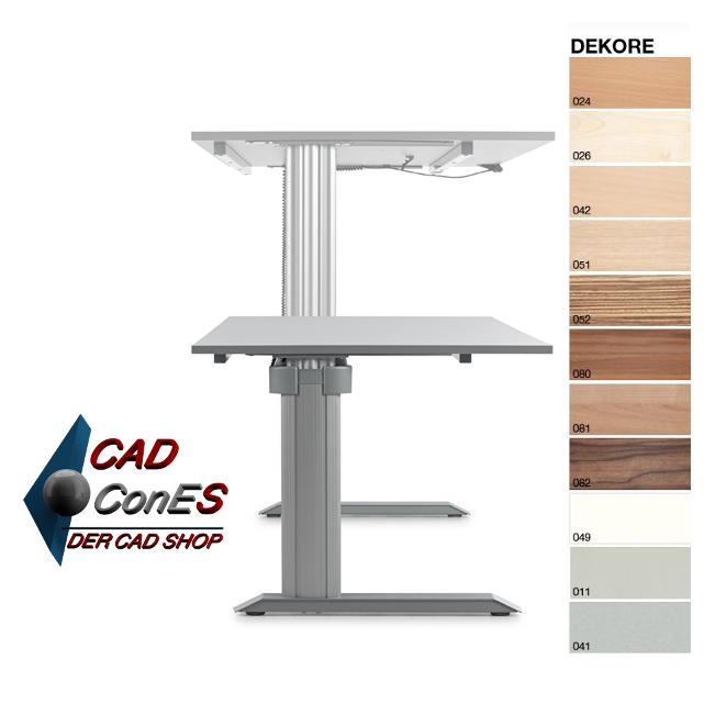 h henverstellbarer tisch go 2 basic der cad shop. Black Bedroom Furniture Sets. Home Design Ideas